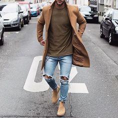 Un homme à la mode - bicolore, simple et sobre #jeans #Ijeans #ModeHomme
