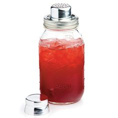 Mason Jar Cocktail Shaker from masonshaker.com; $30 >> awesome! Then save yourself the clean up, and drink straight from the jar!