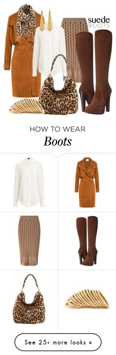 """Don't step on my suede boots"" by beautifulgirlsblog on Polyvore featuring IRO, Alexander Wang, Joseph, Ralph Lauren Collection, Prada, BP., Panacea and Shaun Leane"