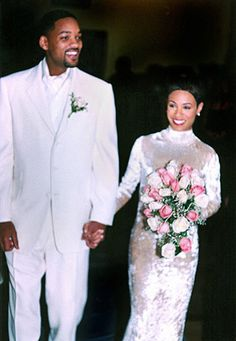 Will Smith and Jada Pinkett Smith.  Will and Jada tied the knot at the Cloisters Mansion in Baltimore on Dec. 31, 1997.