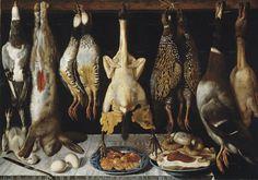Tomás Yepes: Natureza-morta com aves e lebre, século XVII. Museu do Prado, Madrid Conservation, Meat Art, Madrid, Mediums Of Art, Baroque Art, Museum, Classic Paintings, Vanitas, Small Birds