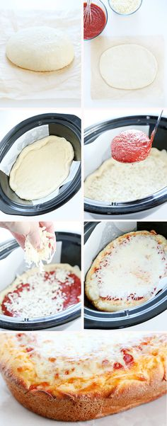 This recipe for deep dish gluten free pizza is made in the slow cooker. You'll be amazed by how crusty it is!