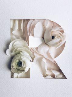 Stunning Flower Typography Project by Julia Losfelt – Fubiz Media Flower Typography, Creative Typography, Typography Letters, Typography Poster, Poster Design, Graphic Design Posters, Graphic Design Illustration, Graphic Design Inspiration, Flower Graphic Design