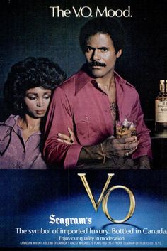 Seagram's VO Canadian Whisky, 1980 Suave guy with mustache