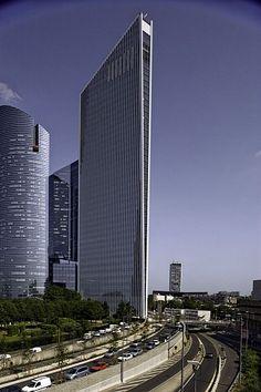 Futuristic Architecture, Granite Tower in La Defense   by Atelier Christian de Portzamparc