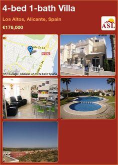 4-bed 1-bath Villa in Los Altos, Alicante, Spain ►€176,000 #PropertyForSaleInSpain