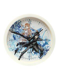 Sword Art Online Asuna & Kirito Wall Clock | Hot Topic