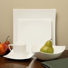 Red Vanilla Extreme White 5-piece Dining Set (5 Pc set) : modern dinner plate sets - Pezcame.Com