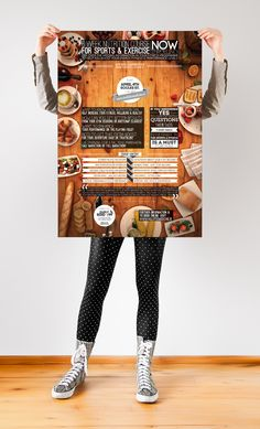 Hiding behind a food poster. Menu Design, Food Design, Design Ideas, Food Posters, Awareness Campaign, Work Inspiration, Illustrations Posters, Benefit, Food Photography