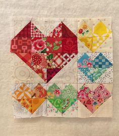Splendid Sampler Block 3 by Dianna Alger. More