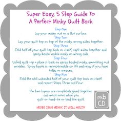 Chris Dodsley @mbCD: 5 Step Guide To A Perfect Minky Quilt Back [Tutorial]