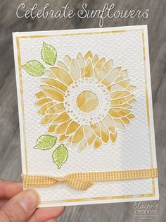 Sunflower Cards, Fun Fold Cards, Paper Crafts, Card Crafts, All Paper, Crafty Projects, Have Some Fun, Embossing Folder, Sunflowers