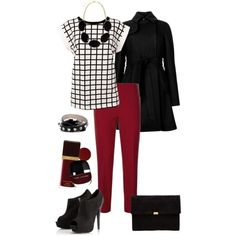 "Fall/Winter Office outfit ""Retro Office Wear"" by torinmia ..."