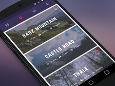 Drive designed by Lydia Selimalhigazi. Connect with them on Dribbble; the global community for designers and creative professionals. App Map, Car App, Android Ui, Ios Design, Mobile App Ui, Ui Inspiration, Material Design, User Interface, Road Trip