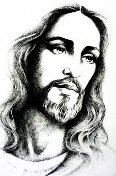 Devotion to the Holy Face of Jesus: Jesus Christ sketch by Marie Bouldingue