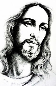 "jesus-christ/jesus-christ-by-mariebouldingue.jpg ""Jesus Christ"" by Marie Bouldingue Jesus Tattoo, Jesus Drawings, Art Drawings, Jesus Christ Drawing, Jesus Christ Painting, Easter Drawings, Pencil Drawings, Christus Tattoo, Pictures Of Jesus Christ"