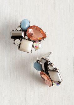 Daylong Dazzle Earrings. Whats more beautiful than these fancy post earrings? #multi #wedding #modcloth