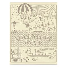 Adventure Awaits Card by Hello Lucky Graduation Post, Graduation Cards, Travel Supplies, Cute Desk, Cute Office, Retirement Cards, Scrapbook Cards, Scrapbooking, Letterpress Printing
