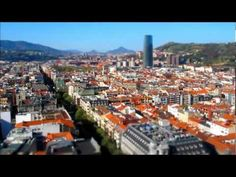 Time Lapse about Bilbao with model effect www.bilbaoarchitecture.com