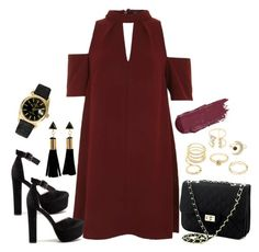 """""""Dark Vibes 💘"""" by sassy-behavior ❤ liked on Polyvore featuring Topshop, Charlotte Russe and Rolex"""