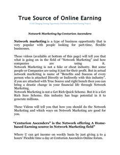 True source of online earning