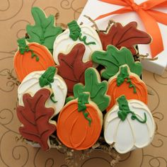 Hand-Decorated Autumn Cookies at Shari's Berries