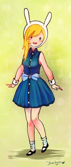 Fionna of adventure time. Cartoon Shows, Cartoon Art, Cartoon Network, Land Of Ooo, Finn The Human, Jake The Dogs, Bubbline, Adventure Time Anime, Kawaii