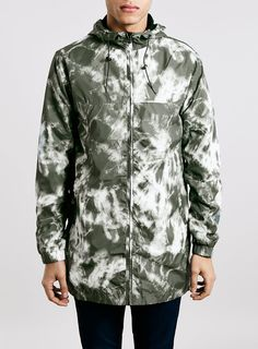 Marble Camouflage Pack-away Lightweight Parka - Topman