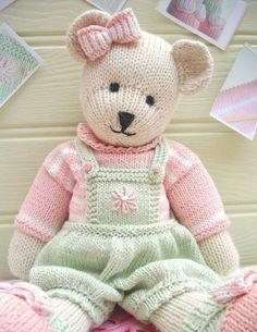 Candy Bear Teddy Knitting Pattern