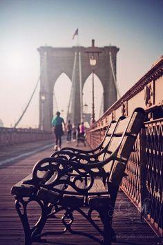 Sunset strolls #BrooklynBridge #NYCLove