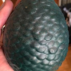 #Textures Our handmade replica dragon eggs are carefully covered with multiple thin layers of mod podge before being aerosol painted to really get the texture of scales. We colour them  with automatic spray paint to get that kind of sheen to them when they catch the light as opposed to being a matte colour. #WeBeTEST #GameOfThrones #Rhaegal #geekglass by geek.glass