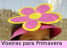 Muitos moldes e modelos de viseiras e óculos de primavera, de flores!         Máscara de borboleta:  Óculos de Primavera:                   ...