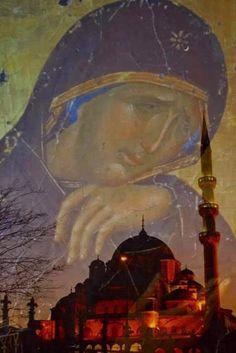"""""""Αμφοτεροδέξιος..."""" : Και πώς θα σου κρύψουν τους αγγέλους; Hagia Sophia, Fall Of Constantinople, Christian Messages, Spiritual Messages, Orthodox Christianity, Holy Family, Orthodox Icons, Priest, Holy Spirit"""