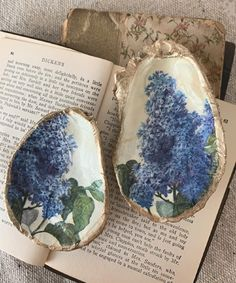 full instructions for decoupaged oyster shell trinket dishes — pleasure in simple things
