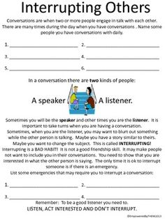 Friends Social Skills Worksheets