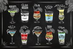 Cocktails graphics - Objects