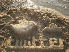 Even sand sculptures can't escape technology! Tweet a picture of this ...