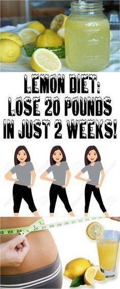 LEMON DIET: LOSE 20 POUNDS IN JUST 2 WEEKS!