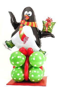 airfilled penguin balloon sculpture