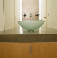 Add A Vessel Sink To A Table Or Stand To Make Your Own Bathroom Vanity.
