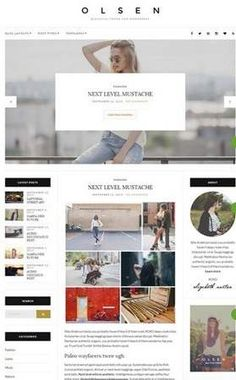 Olsen is a WordPress blogging theme by CSSIgniter which has redefined blogging with it's new layouts and styles. The premium blog template is worth trying for fashion and lifestyle bloggers.