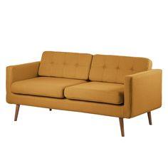 Sofa Croom (3-Sitzer) - Webstoff Senfgelb