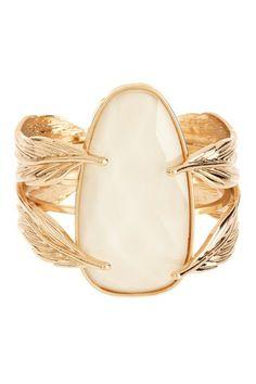 Feather stone cuff
