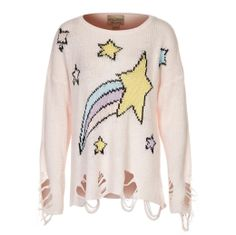 Shooting Star Destroyed Sweater