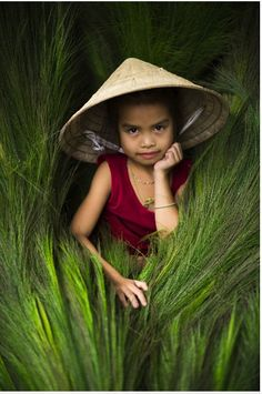 Little girl from the Co Tu Tribe A little girl in Central Vietnam