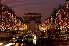 Champs Elysees, Christmas lights
