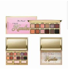 HOLIDAY EDITION  TOO FACED I Want Kandee Candy Eyes Eyeshadow Palette Available now ( online only ) Price :6100tk  Details-  Get tips & tutorials for Too Faced and beauty influencer Kandee Johnson's I Want Kandee Collection.  Too Faced Candy I Want Kandee Eyes Eyeshadow Palette's shades are a beautiful blend of Kandee's favorite eye looks and allow you to step into her beauty dream world. Includes her signature beauty recipes look book so you can create the looks, just like Kandee…