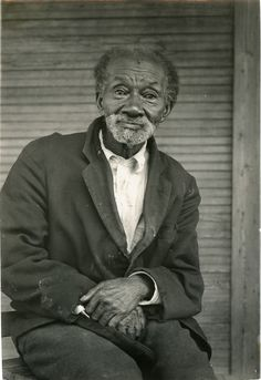 JOSH TARBUTTON, age 100, EX-SLAVE, in Walthall County. (1930's WPA photograph, courtesy Mississippi Department of Archives and History.)