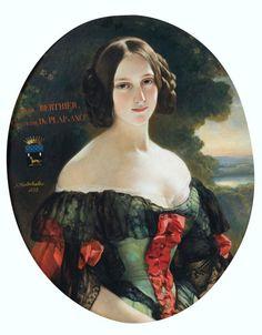 1838 Franz Xaver Winterhalter - Anna Berthier, Countess of Plaisance