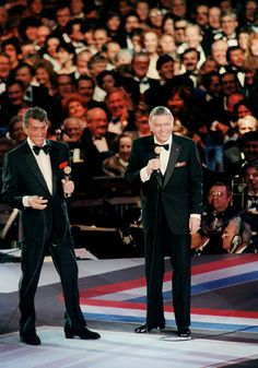 Entertainers Dean Martin and Frank Sinatra perform during the 1985 Presidential Inaugural Gala at the D.C. Convention Center. Description from finearteurope.com. I searched for this on bing.com/images
